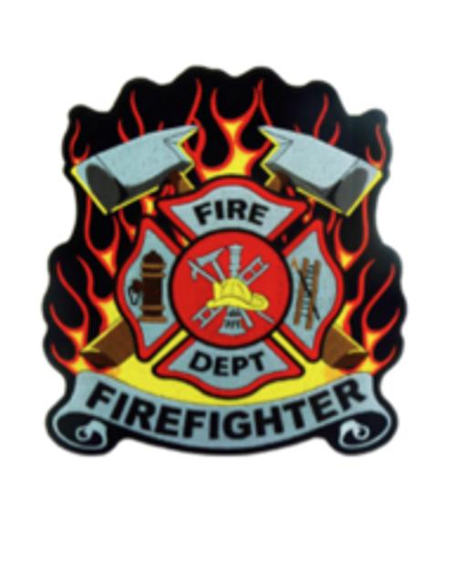FIREFIGHTER FLAMES ACRYLIC BLANK