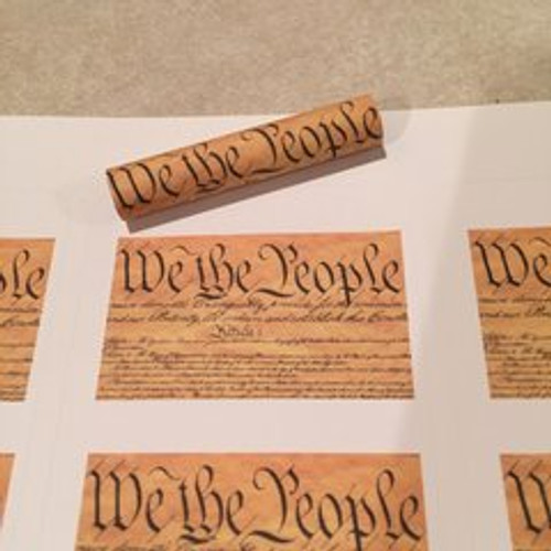 We the People Script Pen Blank