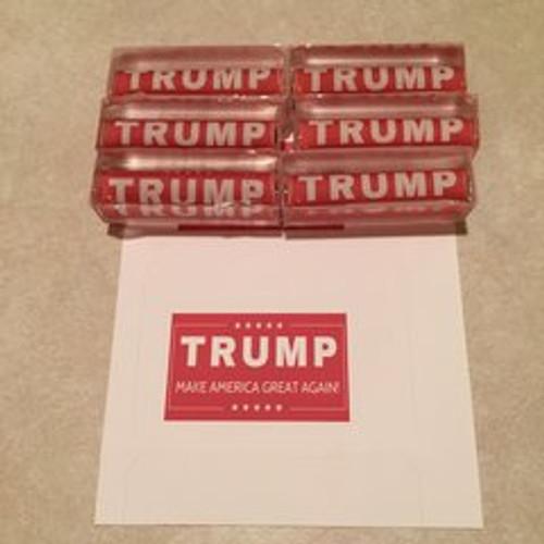Presidential Donald Trump Red Acrylic Pen Blank