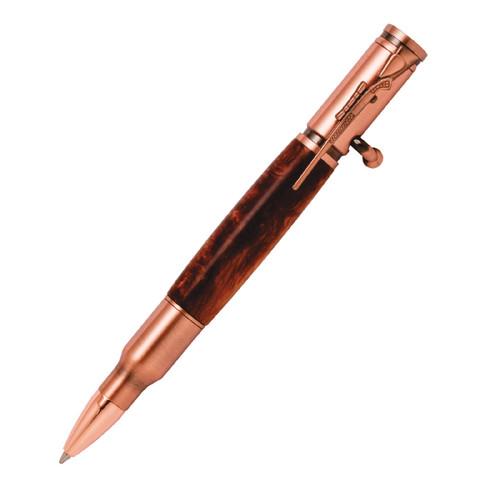 PKCP8050 30 Caliber Bolt Action Antique Copper Bullet Cartridge Pen Kit