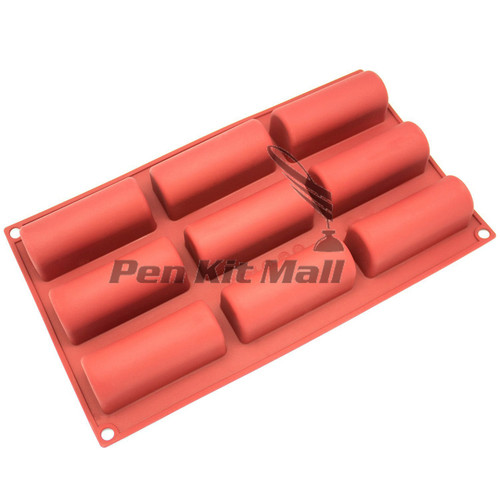Silicone 9 Cavity MOLD RESIN SAVE (ROUND BOTTOM)  for BLANK CASTING