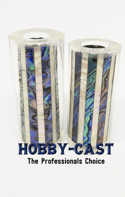 HOBBY-CAST ABALONE SHELL JR SERIES PEN BLANK *NATURAL & WHITE*