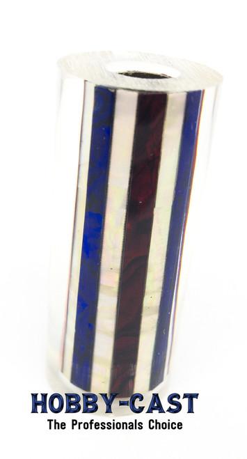 HOBBY-CAST ABALONE SHELL SIERRA SERIES PEN BLANK *RED WHITE BLUE*