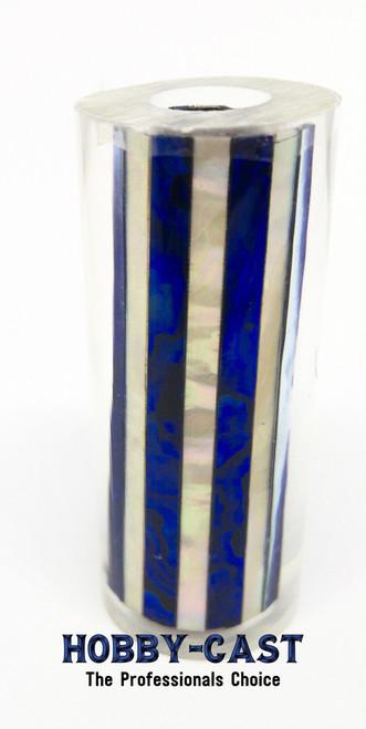 HOBBY-CAST ABALONE SHELL SIERRA SERIES PEN BLANK * BLUE & WHITE*