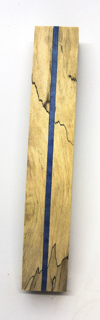 SPALTED MAPLE  THIN BLUE LINE PEN BLANK