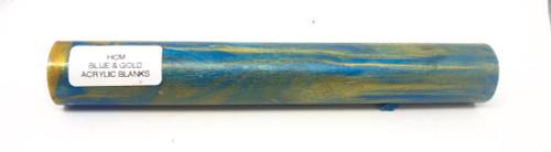 Hobby-Cast BLUE & GOLD Acrylic Pen Blank