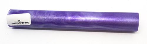 Hobby-Cast Purple - White Acrylic Pen Blank