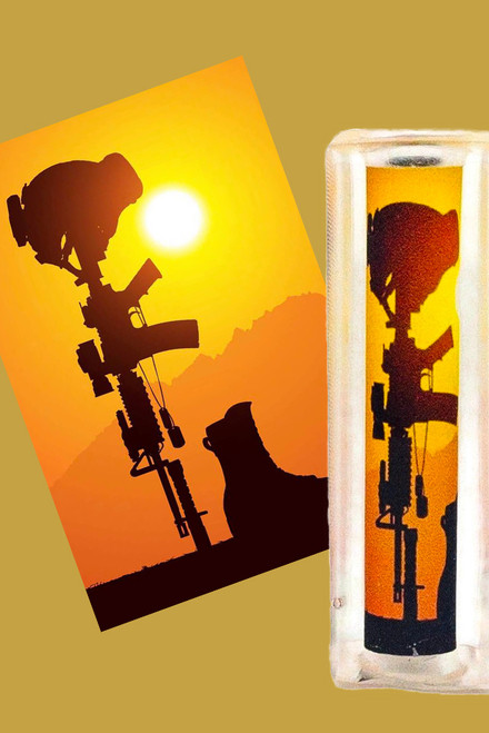Soldier Cross at Sunset Pen Blank