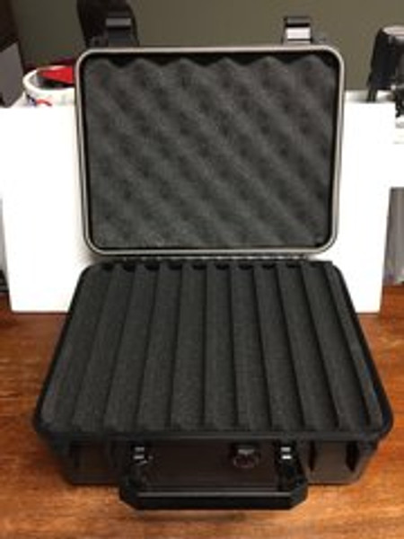 Black Hard Plastic Travelers Pen Case Holder (Holds 40 Pens)