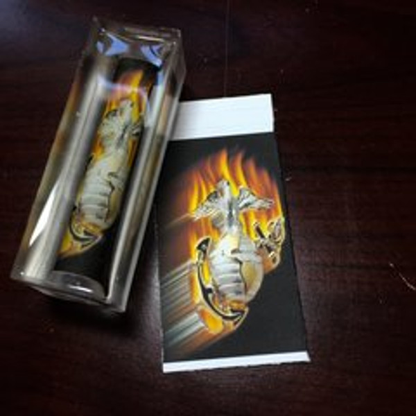 MC5 OFFICIAL LICENSED US MARINES CORP FLAME ANCHOR PEN BLANK
