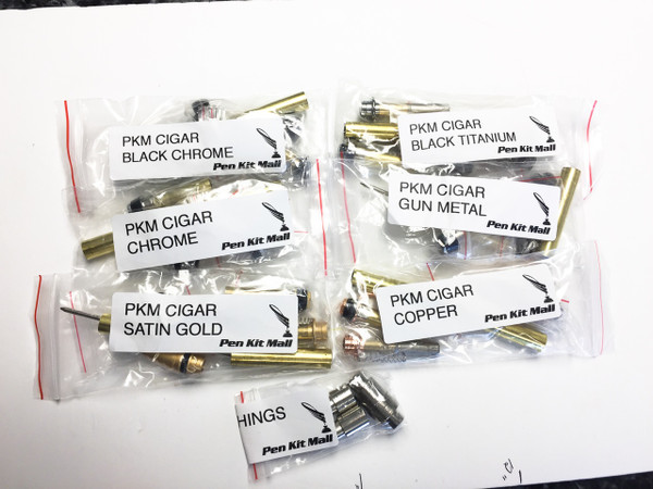 6 assorted Cigar Pen Kits with Bushings