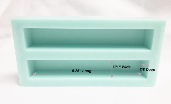 HOBBY-CAST 2 CAVITY Silicone PEN BLANK MOLD