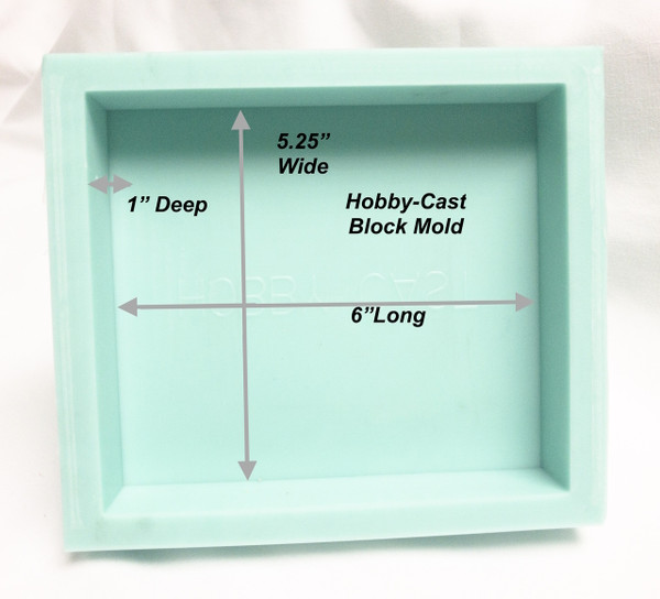 HOBBY-CAST SOLID BLOCK Silicone PEN BLANK MOLD