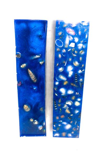 #221 Sea Shell Blanks in Deep Blue (1 Blank)