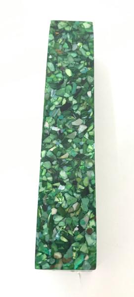 #226 Aqua Green Pearl Dyed Sea Shell
