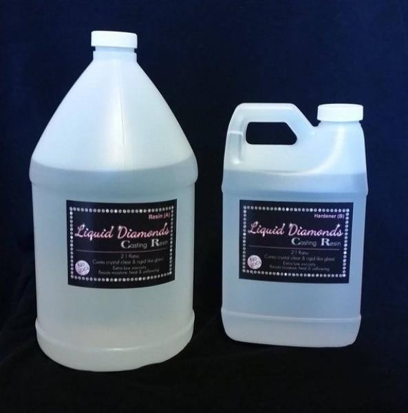 (1.5 gallon) Liquid Diamonds Casting Resin (shipping Included)