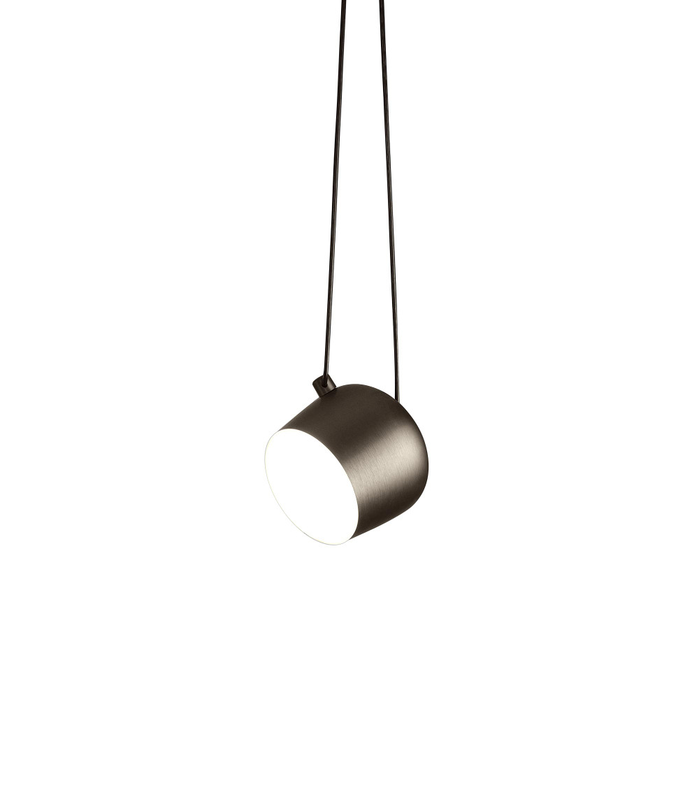 Aim small led ceiling pendant lamp in bronze black or white