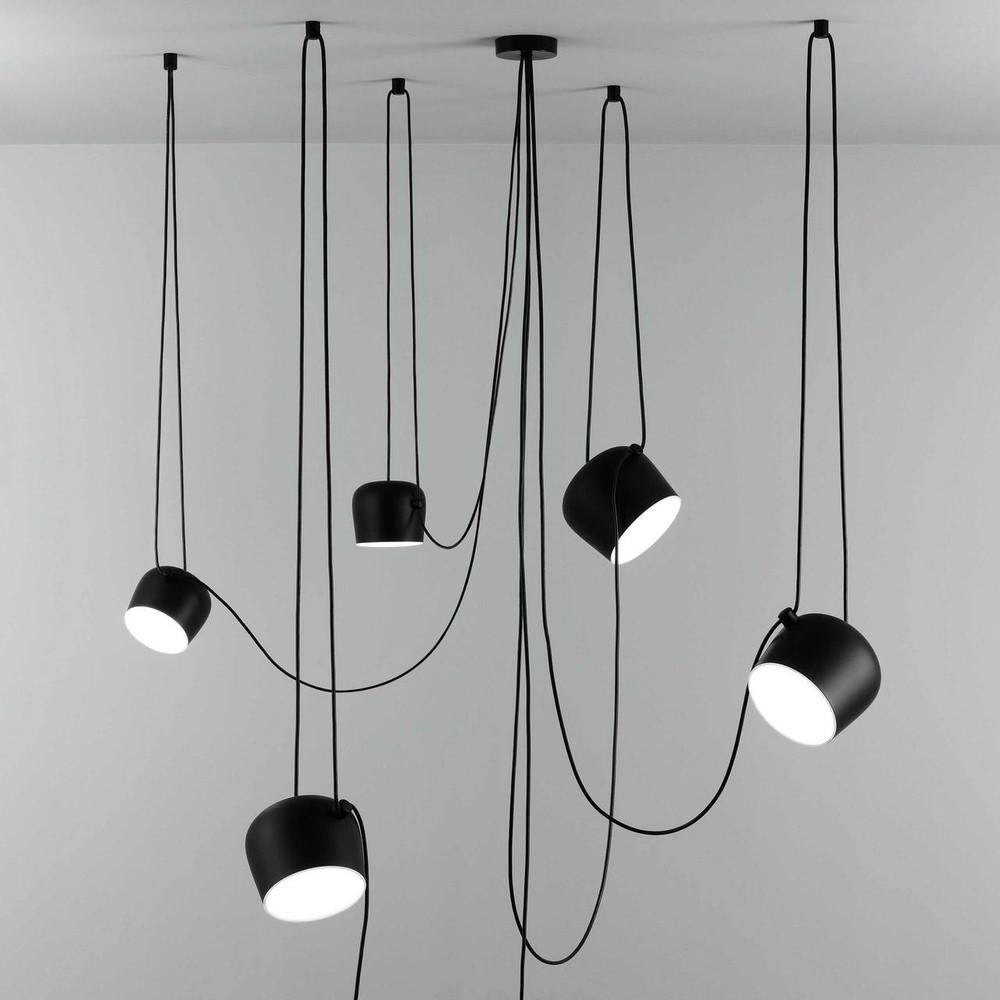 AIM LED Pendant Light in Black Bronze White