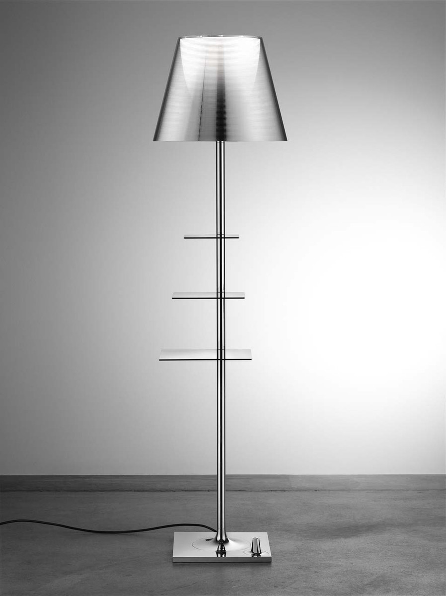 Bibliotheque Nationale Modern Floor Lamp With Shelves Flos