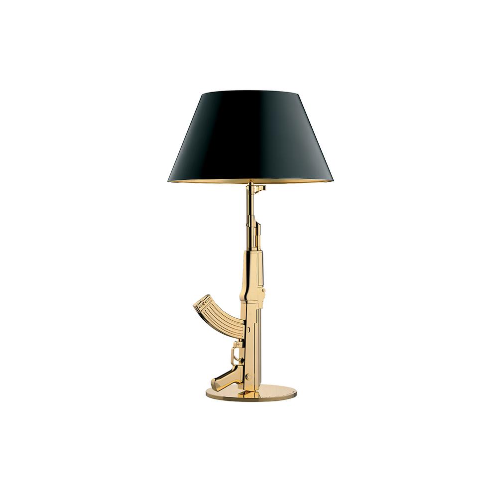 Flos Gun Table gold gun lamp
