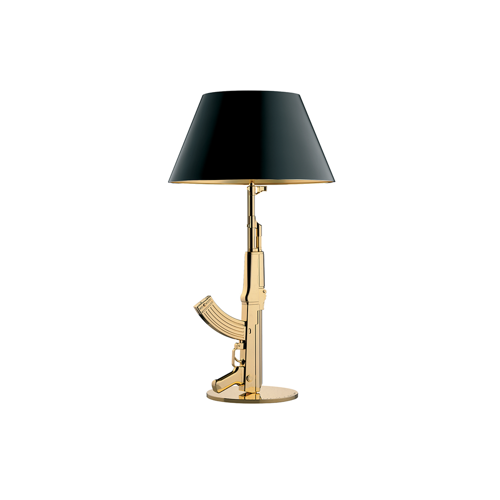 Flos Gun Table gold gun lamp