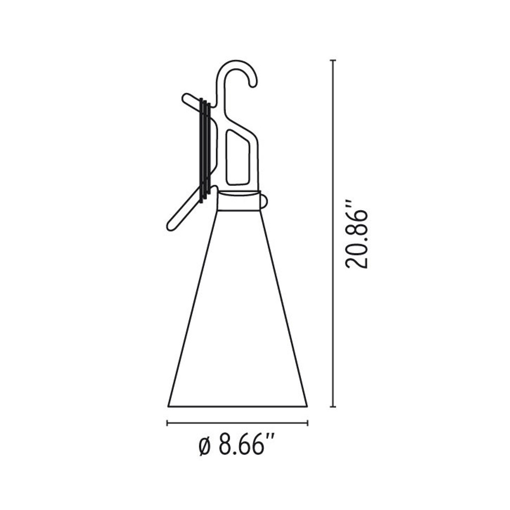 may day modern hook lamp by konstantin grcic flos usa 9V Battery LED Circuit