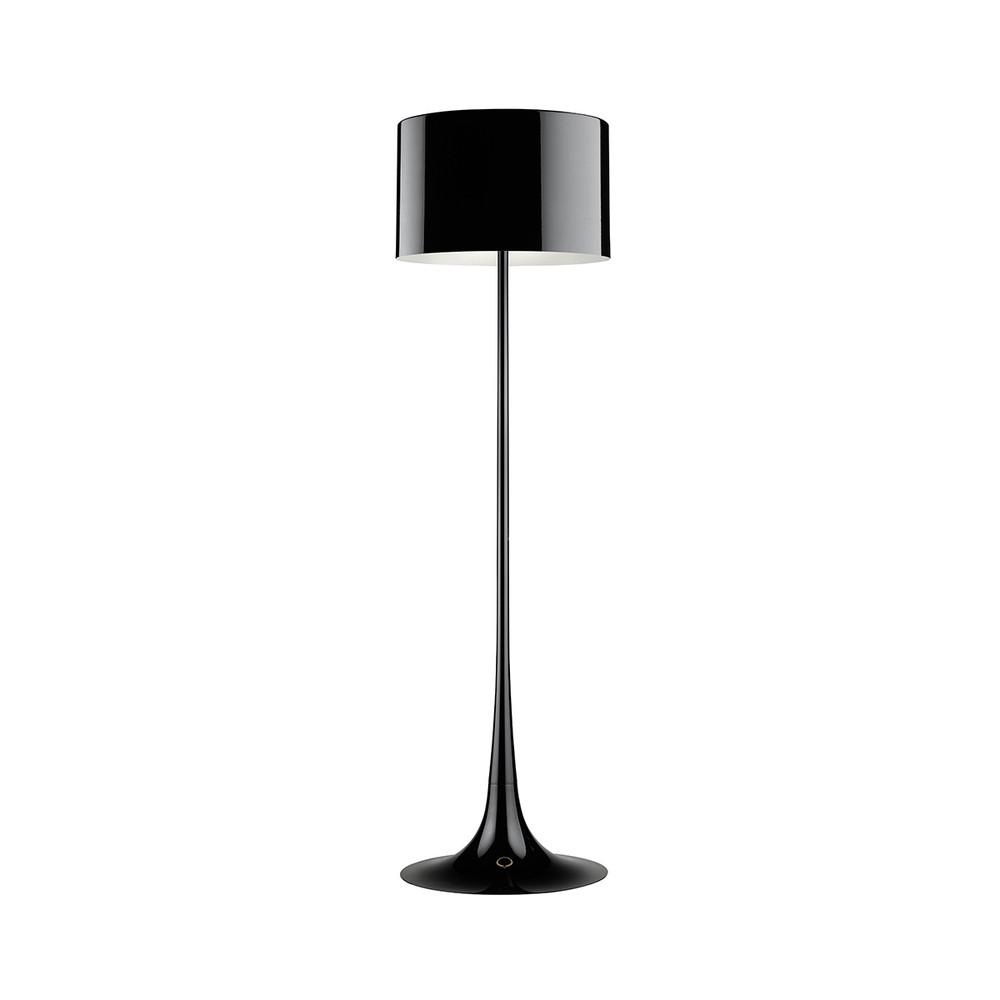 Spun light floor lamp black