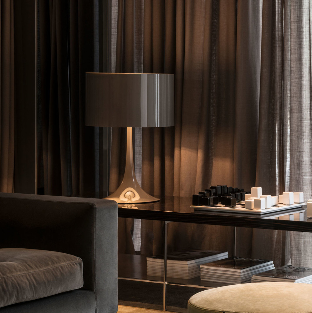 Spun Light T Modern Table Lamp By Sebastian Wrong Flos Usa