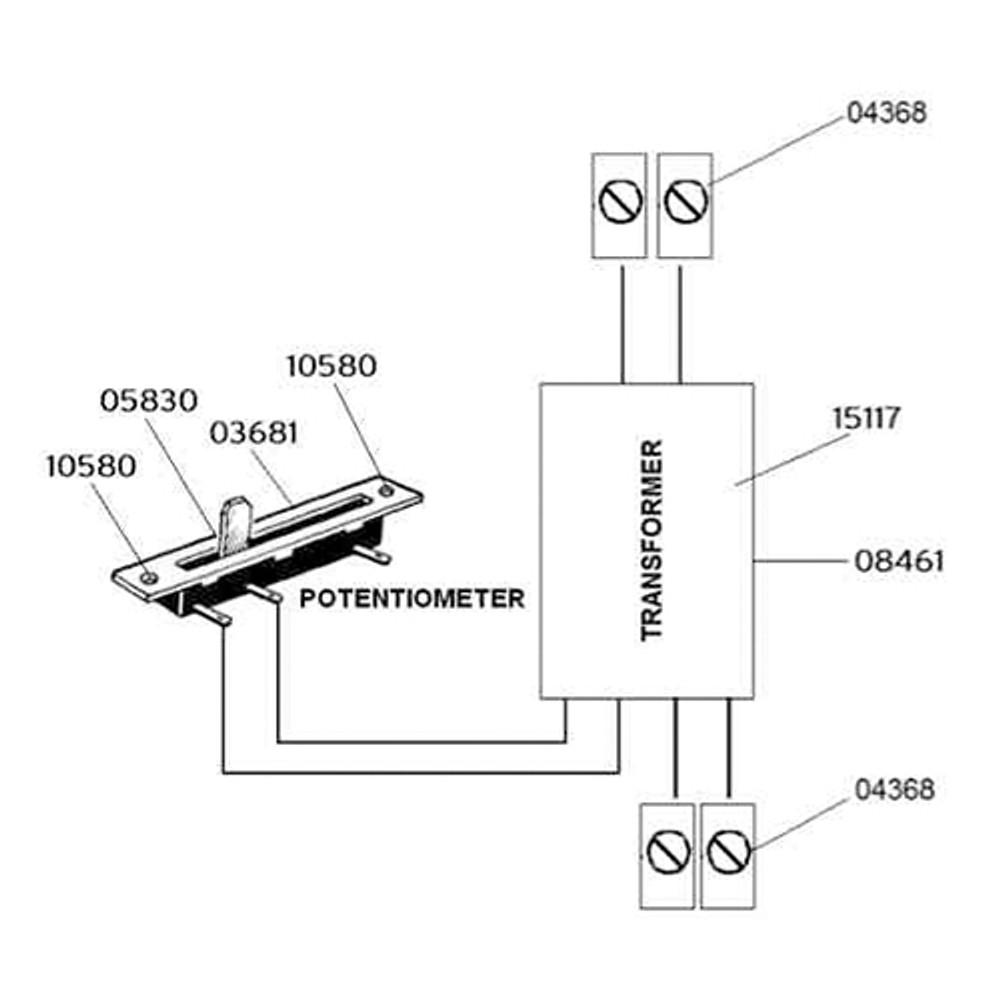 Gibigiana Transformer with potentiometer assembly
