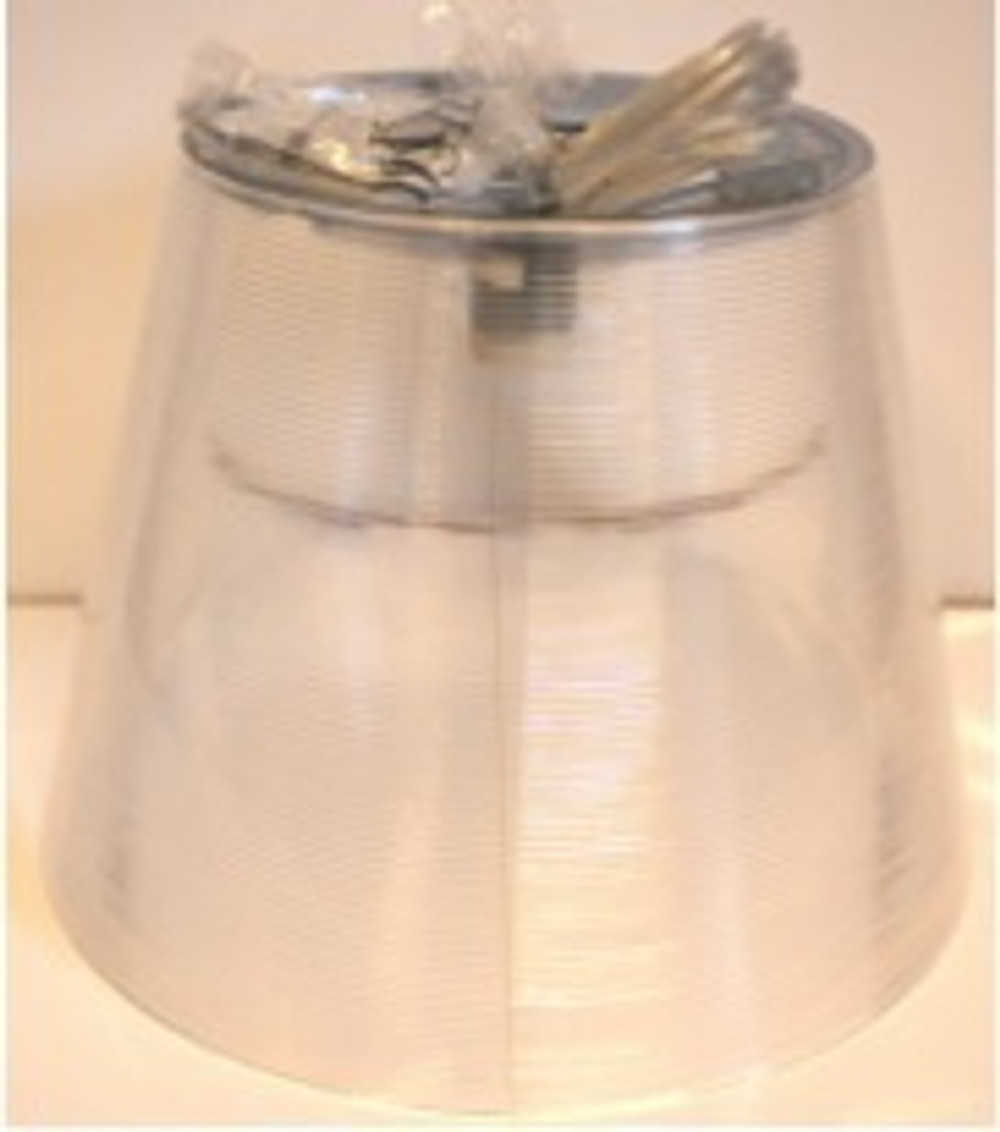 Ktribe S2 Transparent external diffuser assembly with lampholder and electrical cable