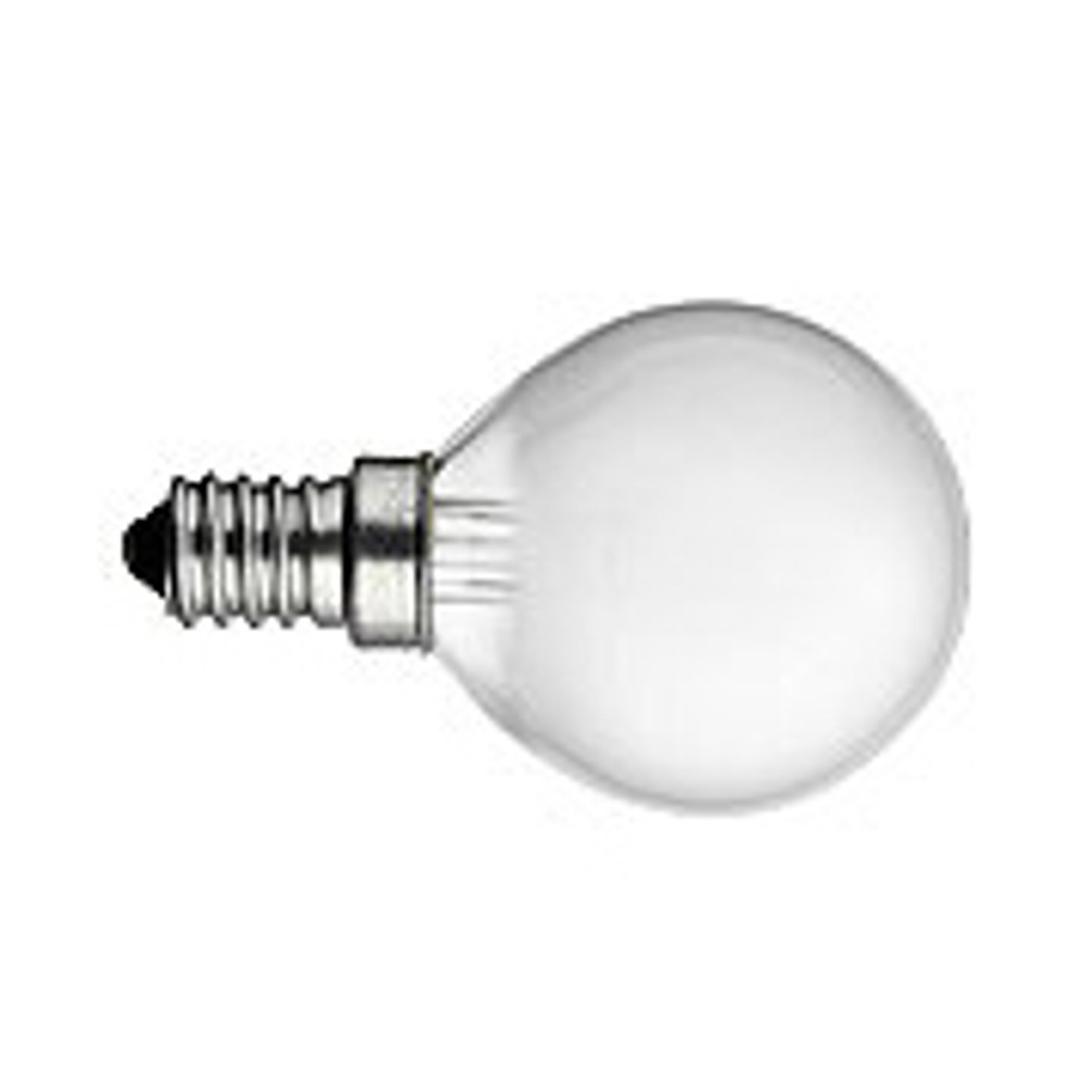 40W Candelabra G 16.5 Frosted Incandescent
