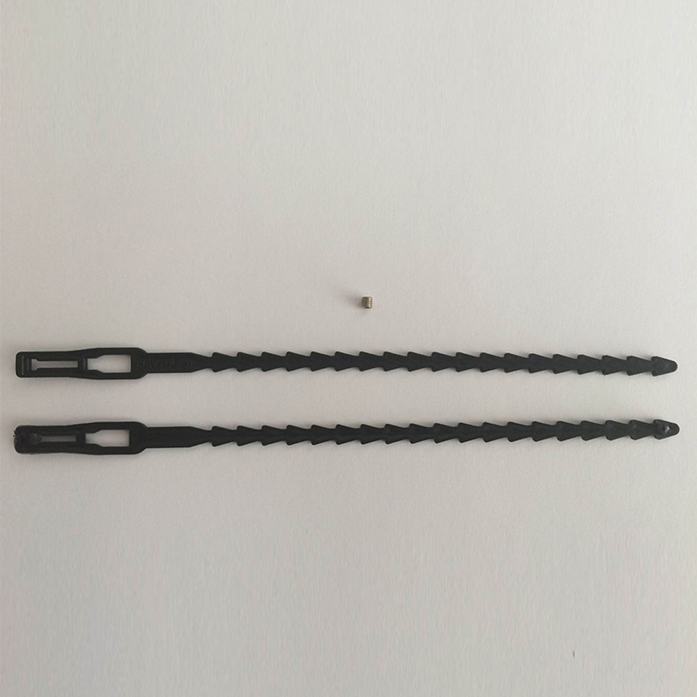 Kit with wire ties and screw