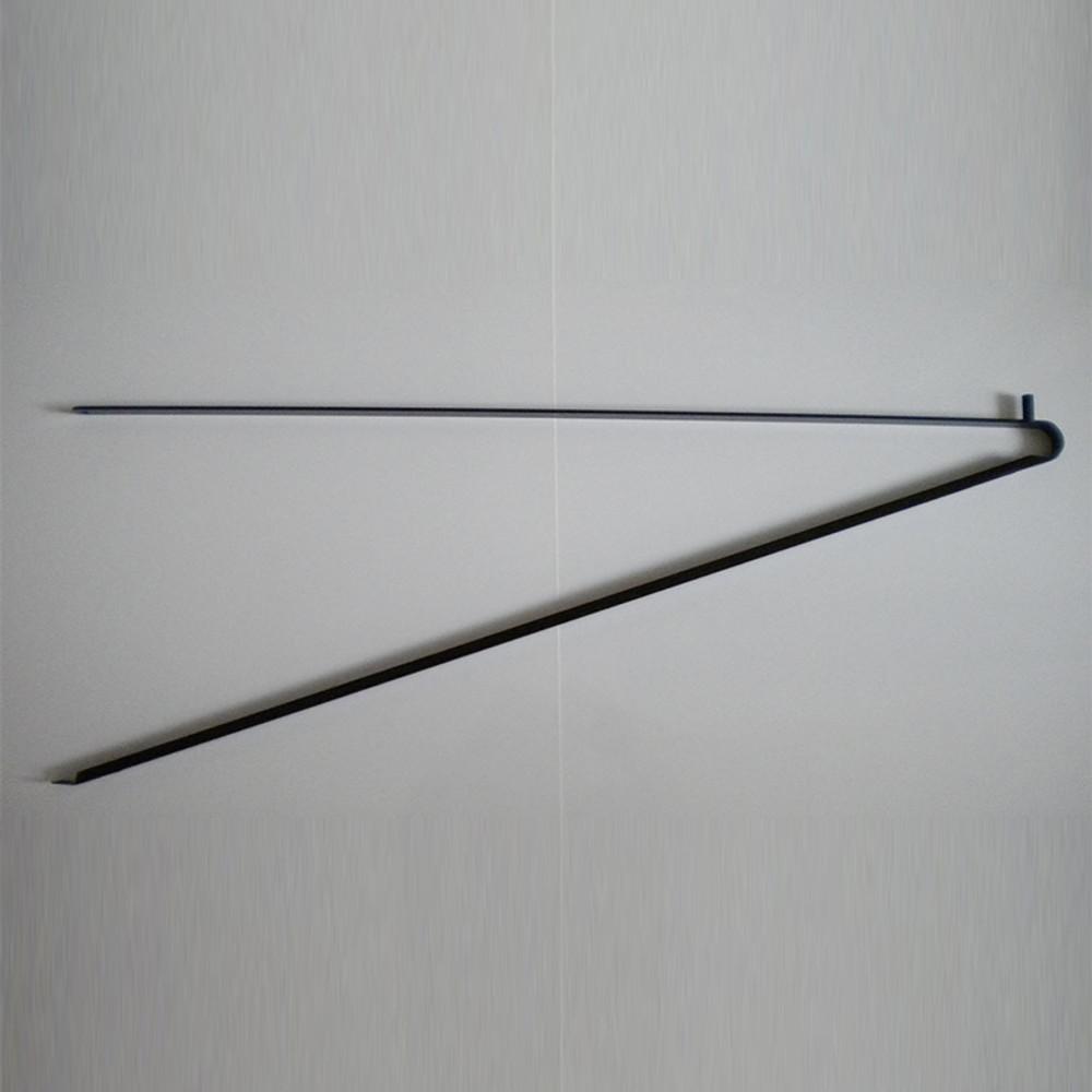 Black triangle bracket support