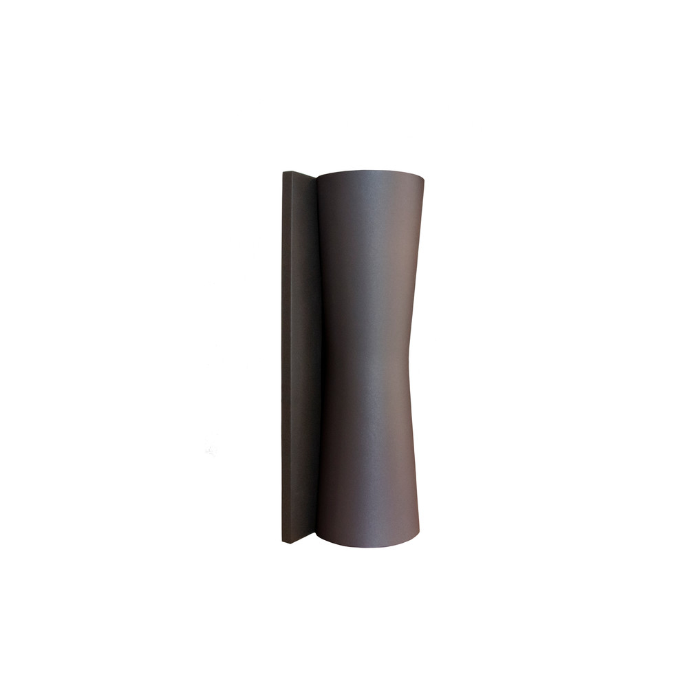 Clessidra Outdoor Wall Sconce Light in Grey and Brown