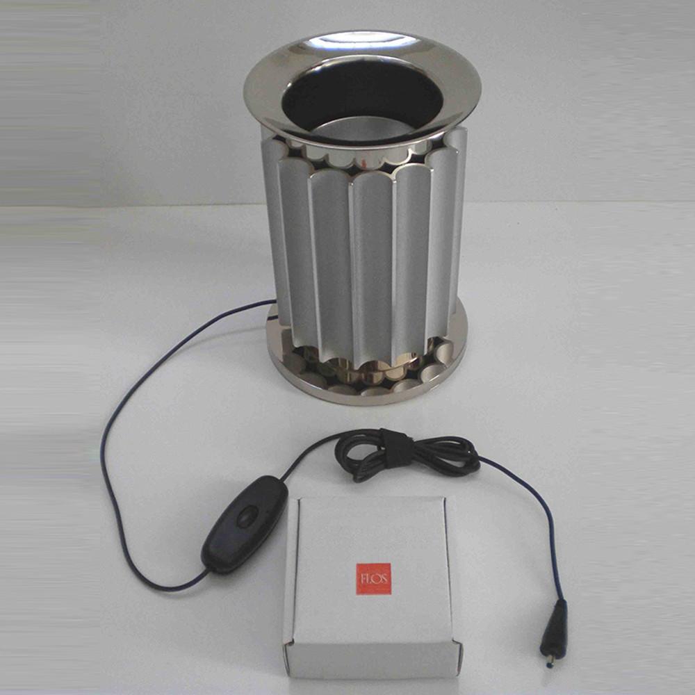 LED Base, Anodized Silver