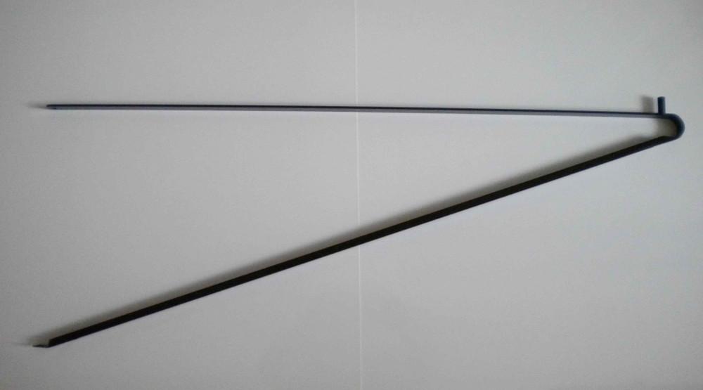 Grey triangle bracket support