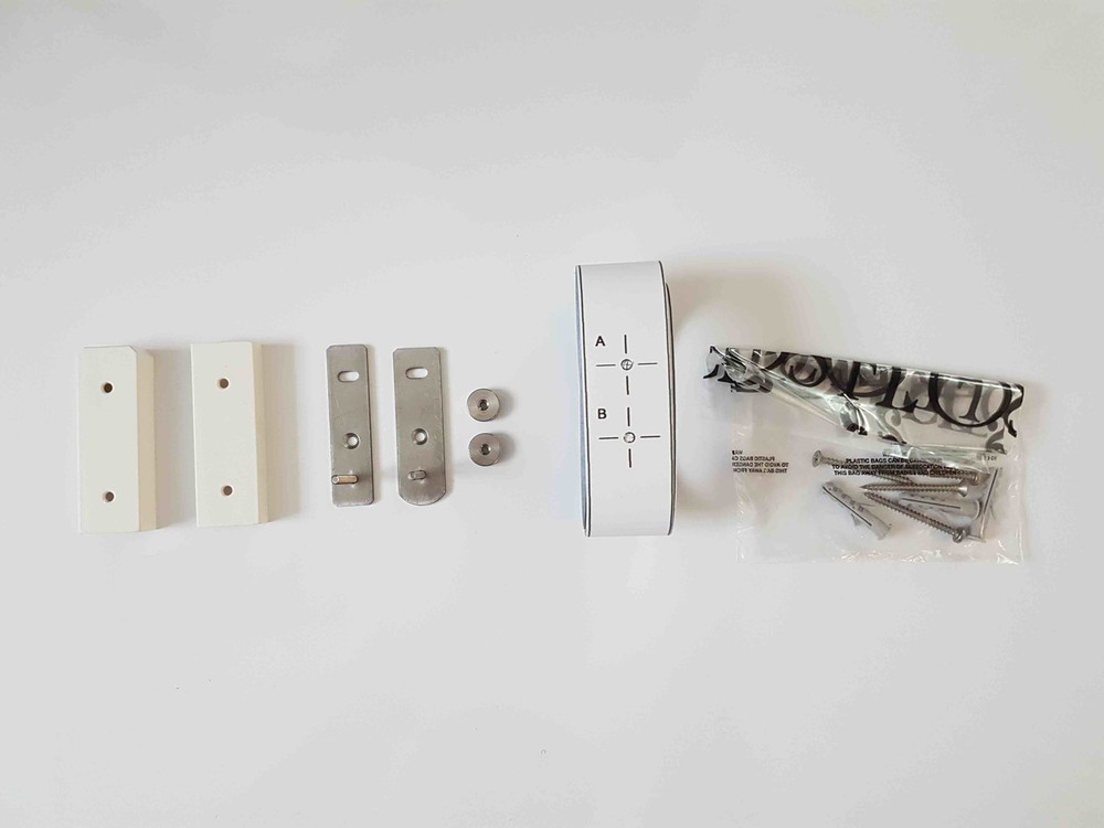 White WireRing Kit With Screws, Nuts, Covers And Pieces