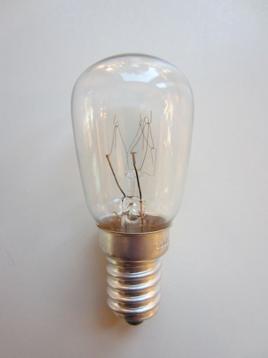 15W E14 Clear Ball Incandescent bulb