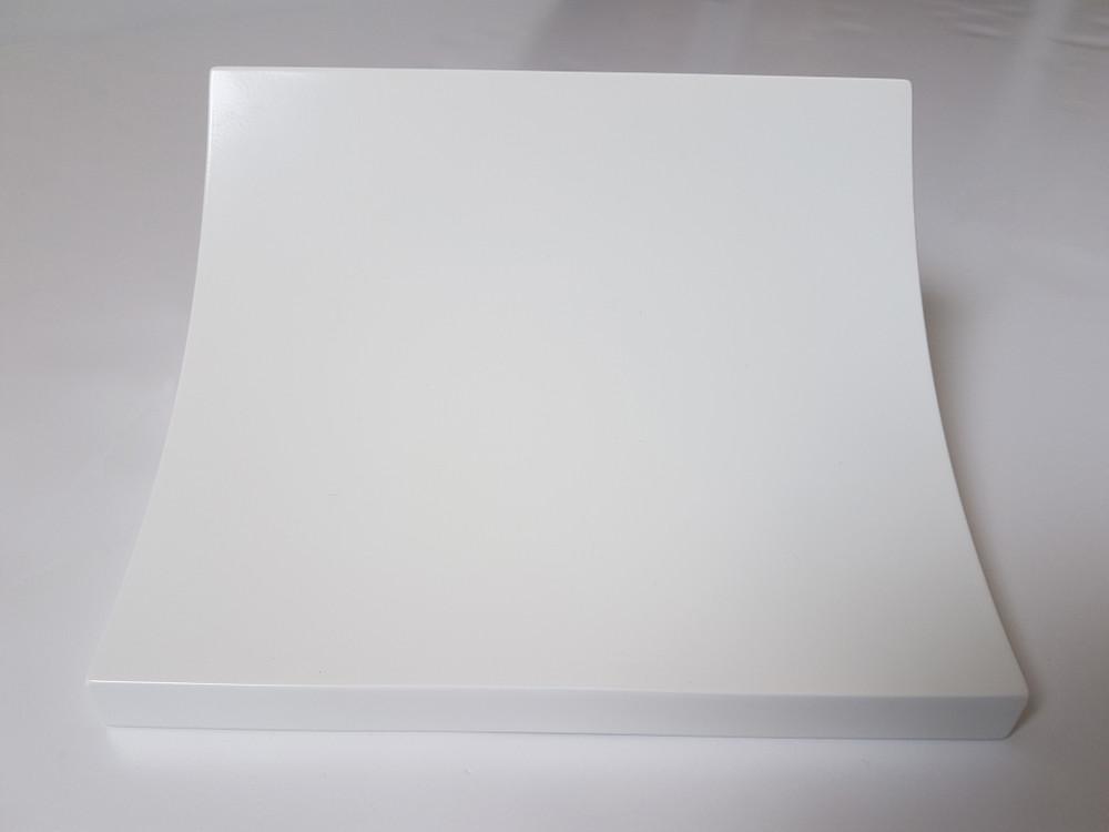 Pochette body, Shiny white finish