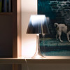 Miss K Table Lamp in Silver, Black or Red