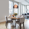 Tatou Suspension in a dining setting - FLOS USA