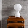 Castiglioni Mid-Century Modern Italian Table Lamps with Cocoon Lampshade