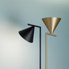 Flos Captain flint floor lamp in two finishes gold and black | FLOS USA