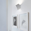 Pochette Up & Down LED wall sconce in Chrome Grey or White