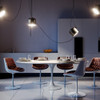 FLOS AIM over a dining room table by Ronan and Erwan Bouroullec