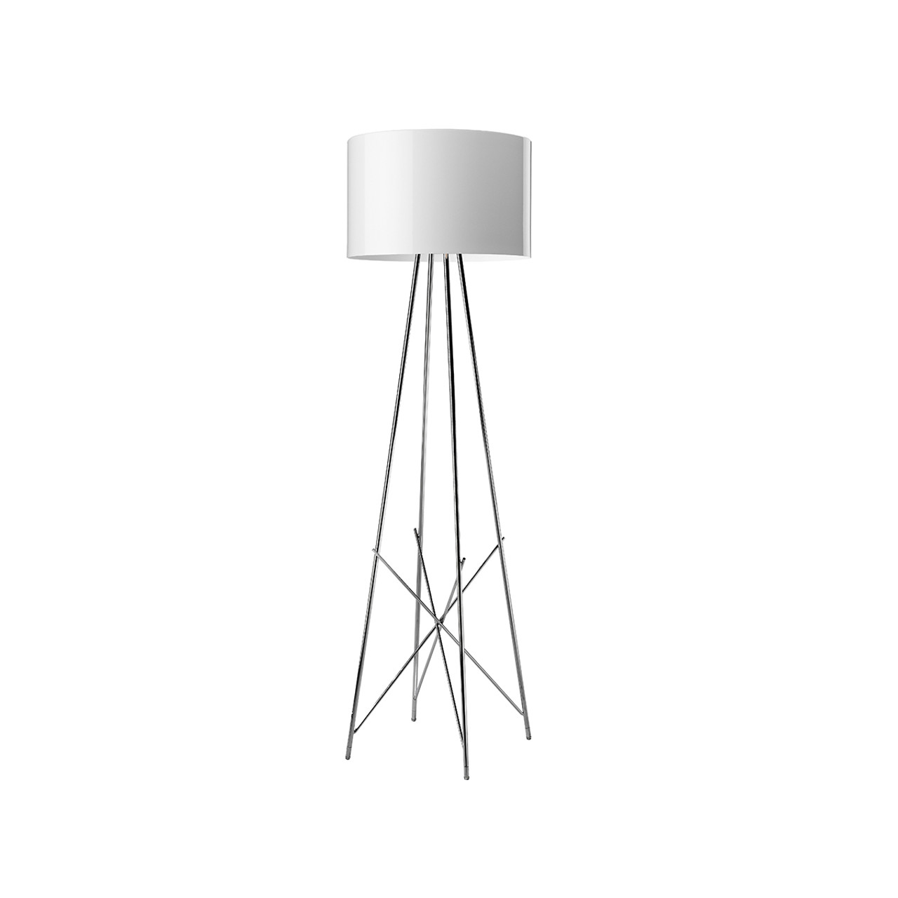 Peachy Ray F Floor Lamp Led Dimmable In Glossy Black Or White Gmtry Best Dining Table And Chair Ideas Images Gmtryco