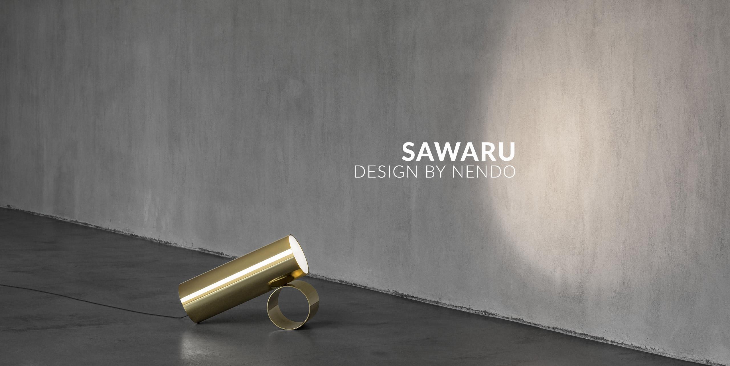 modern floor lamp sawaru by nendo