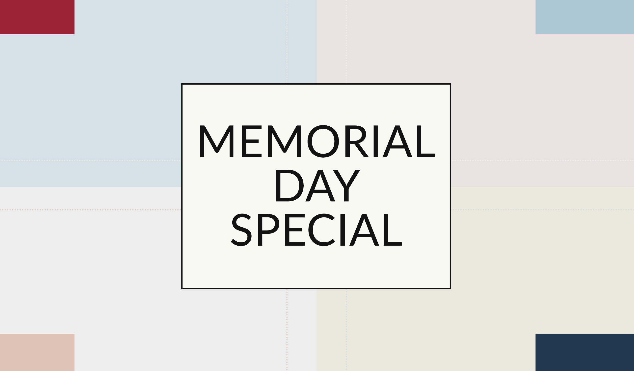 Memorial Day 2020 - Gift with Purchase Offer