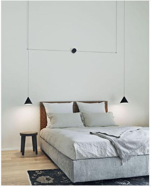 String Lights Cone - Bedroom Hanging Lamp