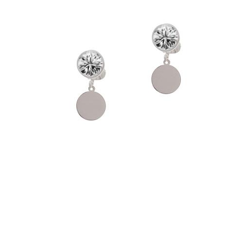 10mm Blank Disc Clear Crystal Clip On Earrings